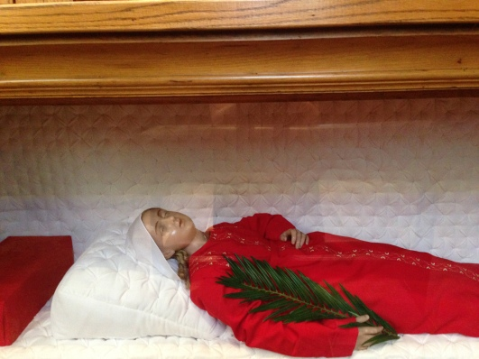 plastic mannequin of baby martyr